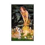 Fairies & Corgi Sticker (Rectangle)