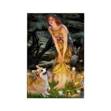 Fairies & Corgi Rectangle Magnet