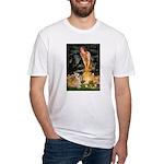 Fairies & Corgi Fitted T-Shirt