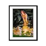 Fairies & Corgi Framed Panel Print