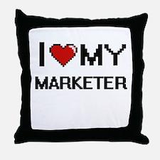 I love my Marketer Throw Pillow