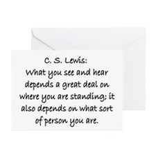 C.S. LEWIS QUOTE Greeting Cards (Pk of 20)