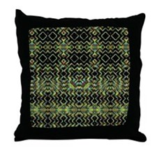 Tribal Shaman Forest Throw Pillow