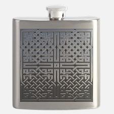 Chrome Celtic Knot Flask