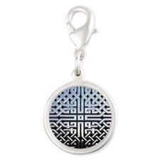 Chrome Celtic Knot Silver Round Charm