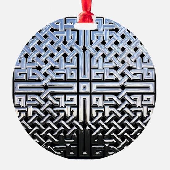 Chrome Celtic Knot Ornament