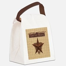 Primitive Star Canvas Lunch Bag