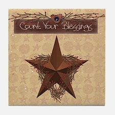 Primitive Star Tile Coaster