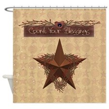 Primitive Star Shower Curtain