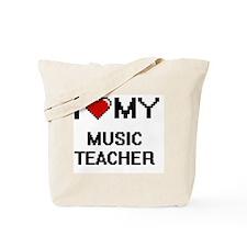 I love my Music Teacher Tote Bag