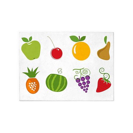 Fruits 5u0027x7u0027Area Rug