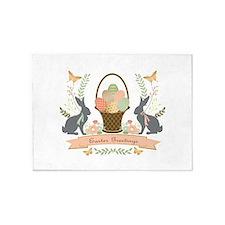Modern Trends Easter Bunnies 5'x7'Area Rug