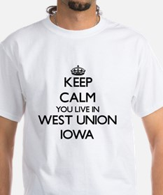 Keep calm you live in West Union Iow Shirt