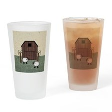 Barn Sheep Drinking Glass