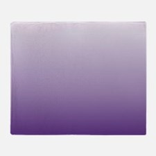 modern purple ombre Throw Blanket