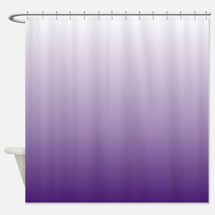 Teal bathroom decor - Purple Ombre Shower Curtains Purple Ombre Fabric Shower Curtain
