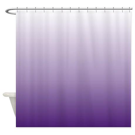 Modern Purple Ombre Shower Curtain