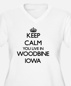 Keep calm you live in Woodbine I Plus Size T-Shirt