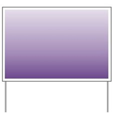 modern purple ombre Yard Sign