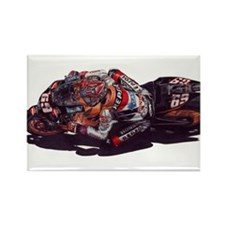 Unique Motorcycle racing Rectangle Magnet (10 pack)