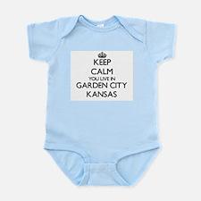 Keep calm you live in Garden City Kansas Body Suit