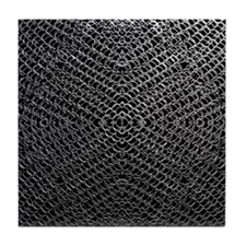 Silver Chainmaille Tile Coaster