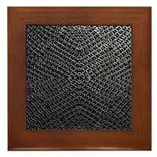 Silver Chainmaille Framed Tile