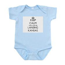 Keep calm you live in Lansing Kansas Body Suit