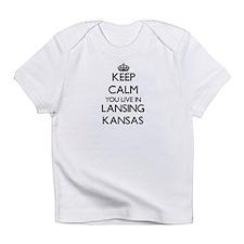 Keep calm you live in Lansing Kansa Infant T-Shirt