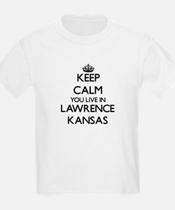 Keep calm you live in Lawrence Kansas T-Shirt