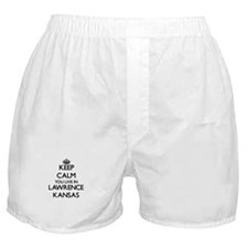 Keep calm you live in Lawrence Kansas Boxer Shorts