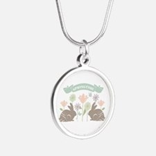 Modern rustic chic Easter Bunnies Necklaces
