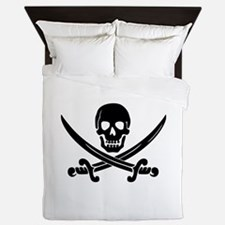 Calico Jack's Pirate Ensign Queen Duvet Cover