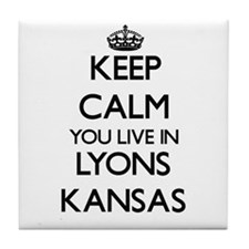 Keep calm you live in Lyons Kansas Tile Coaster