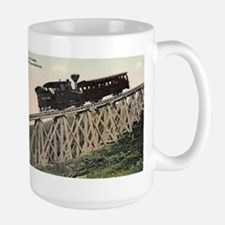 Cog Railway, Mount Washington, 1910 Large Mug Mugs