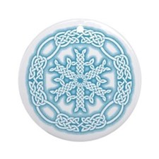 Celtic Winter Ornament (Round)
