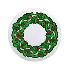 Celtic Wreath Ornament (Round)