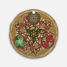 Celtic Reindeer Ornament (Round)