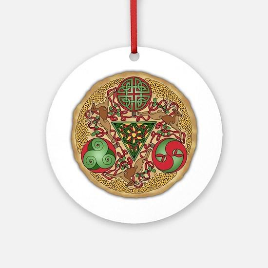 Celtic Reindeer Ornament (Round)
