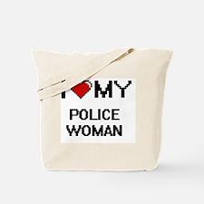 I love my Police Woman Tote Bag