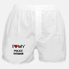 I love my Police Woman Boxer Shorts