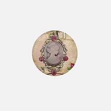 Vintage Cameo Mini Button