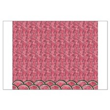 Watermelon Mania - pink double rows Large Poster