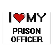 I love my Prison Officer Postcards (Package of 8)