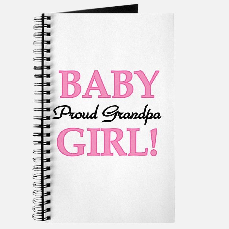 Baby Girl Proud Grandpa Journal
