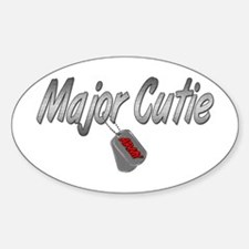 Army Major Cutie ver2 Oval Decal