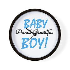 Baby Boy Proud Grandpa Wall Clock