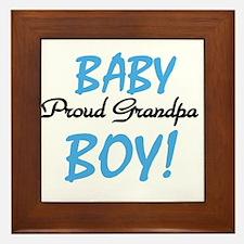 Baby Boy Proud Grandpa Framed Tile