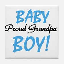 Baby Boy Proud Grandpa Tile Coaster