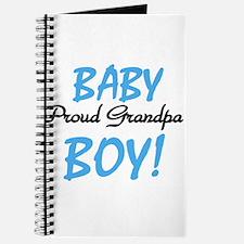 Baby Boy Proud Grandpa Journal